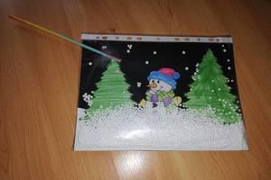 Pomysł na zimową pracę plastyczną – bałwanek