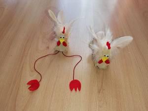 Kurka na dwa sposoby – praca plastyczno- techniczna z wykorzystaniem wytłaczanki po jajkach