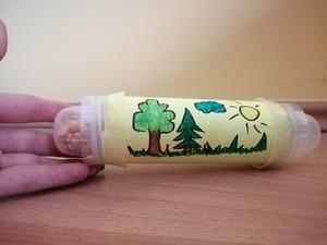 Grzechotka – praca plastyczna z wykorzystaniem rolki