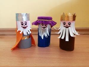 Trzej Królowie- praca plastyczna z wykorzystaniem rolki