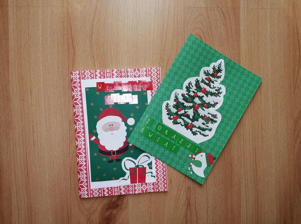 Kartki bożonarodzeniowe – praca plastyczna