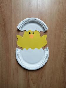 Kurczak- praca plastyczna z wykorzystaniem talerzyka papierowego