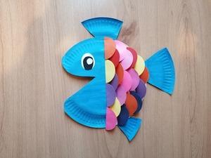 Ryba- praca plastyczna z wykorzystaniem talerzyka papierowego