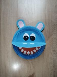 Hipopotam- praca plastyczna z wykorzystaniem talerzyka papierowego
