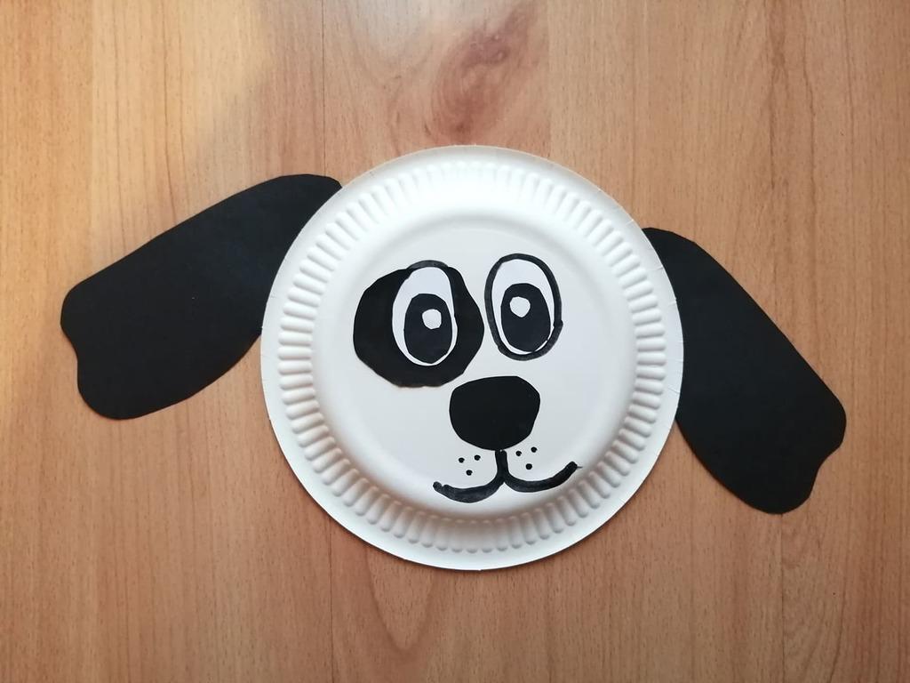 Pies- praca plastyczna z wykorzystaniem talerzyka papierowego