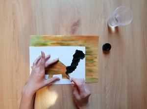 Dinozaur – praca plastyczna z wykorzystaniem szablonu