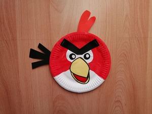 Angry Birds - praca plastyczna z wykorzystaniem talerzyka papierowego