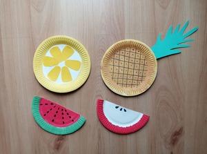 Owoce - praca plastyczna z wykorzystaniem talerzyka papierowego