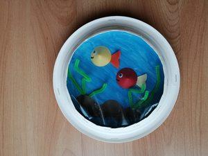 Akwarium - praca plastyczna z wykorzystaniem talerzyka