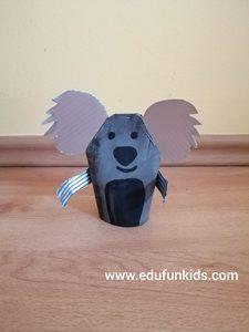 Koala - praca plastyczna z wykorzystaniem rolki