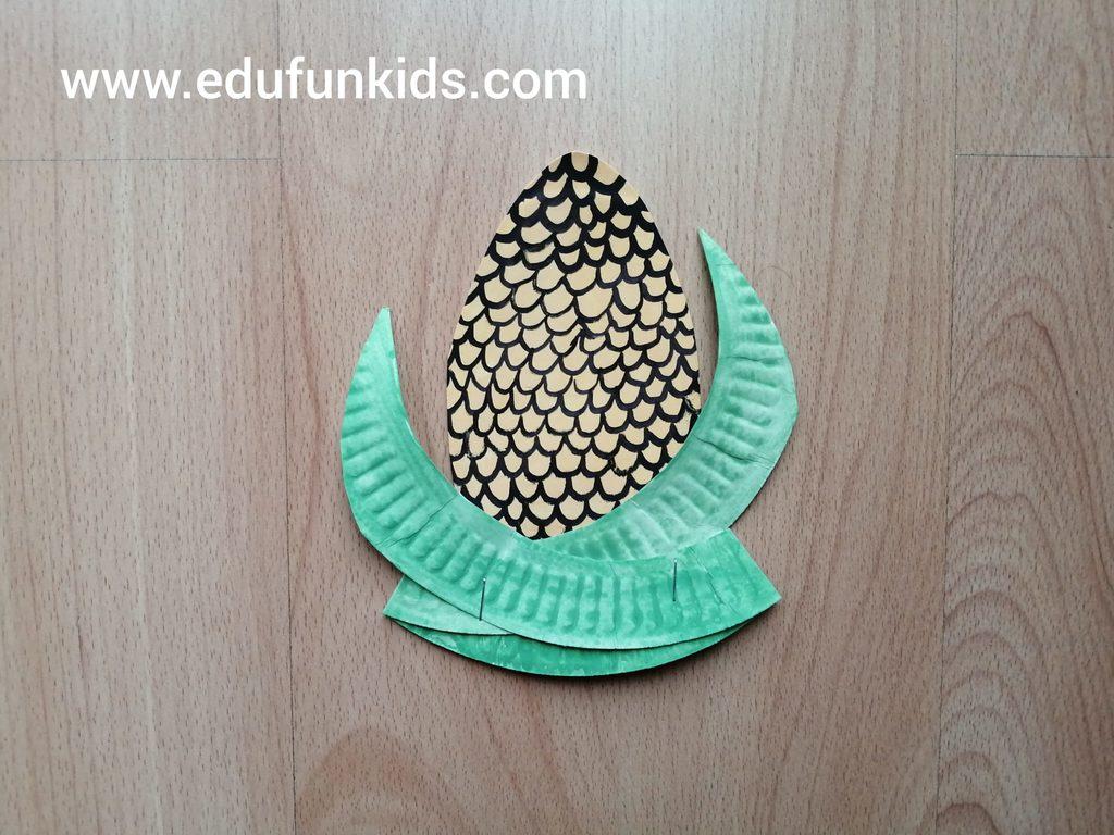 Kukurydza - praca plastyczna z wykorzystaniem talerzyka papierowego