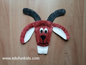 Koza - praca plastyczna z wykorzystaniem talerzyka papierowego