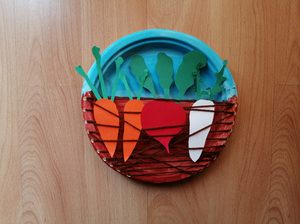 Warzywa okopowe - praca plastyczna z wykorzystaniem talerzyka papierowego
