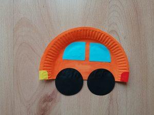 Samochód - praca plastyczna z wykorzystaniem talerzyka
