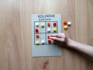 Kolorowe sudoku- zabawa edukacyjna