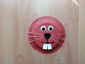Świstak - praca plastyczna z wykorzystaniem talerzyka papierowego