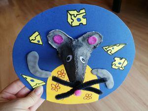 Myszka – praca plastyczna z wykorzystaniem wytłaczanki