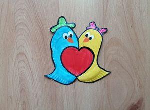 Ptaszki - praca plastyczna z wykorzystaniem talerzyka papierowego