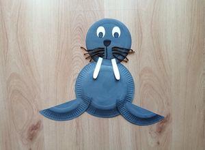 Mors - praca plastyczna z wykorzystaniem talerzyka papierowego