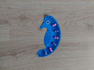 Konik morski- praca plastyczna z wykorzystaniem talerzyka papierowego