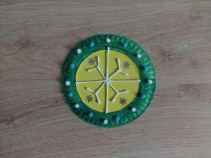 Zimowa mandala - praca plastyczna z wykorzystaniem talerzyka papierowego