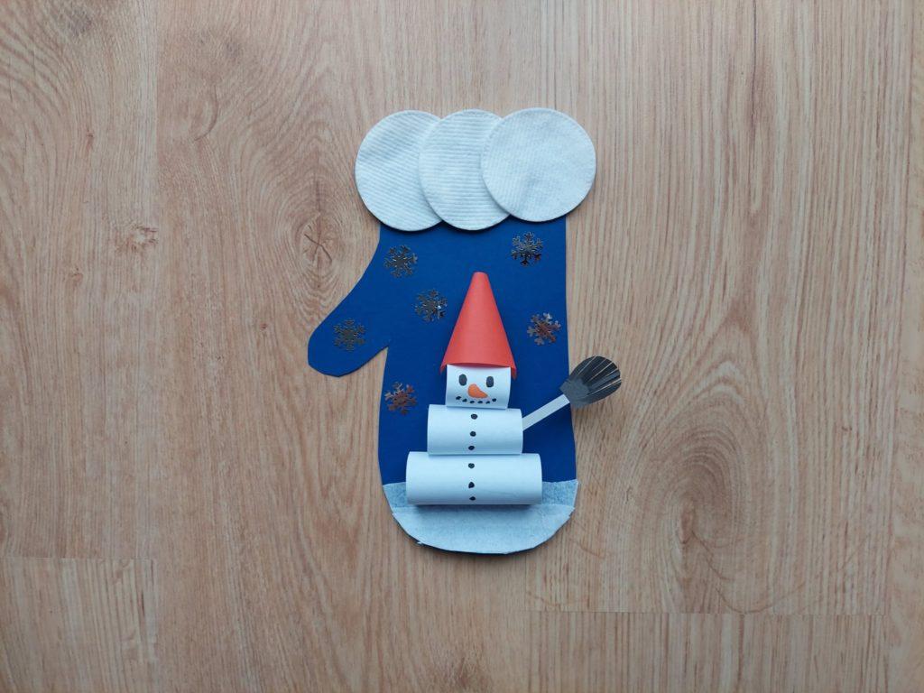 Zimowa rękawiczka - praca plastyczna