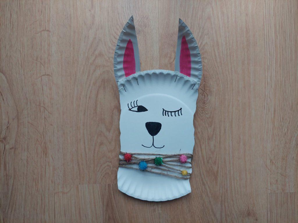 Alpaka - praca plastyczna z wykorzystaniem talerzyka papierowego