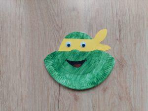 Żółw Ninja - praca plastyczna z wykorzystaniem talerzyka papierowego