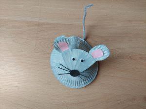 Mysz - praca plastyczna z wykorzystaniem talerzyka papierowego