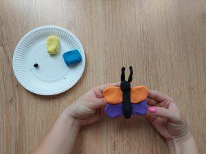 Kolorowy motylek – zabawa sensoryczna