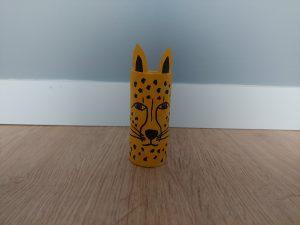 Gepard - praca plastyczna z wykorzystaniem rolki